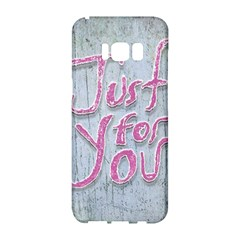 Letters Quotes Grunge Style Design Samsung Galaxy S8 Hardshell Case