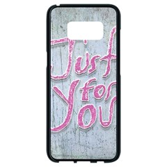 Letters Quotes Grunge Style Design Samsung Galaxy S8 Black Seamless Case