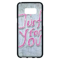Letters Quotes Grunge Style Design Samsung Galaxy S8 Plus Black Seamless Case