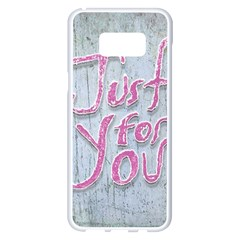 Letters Quotes Grunge Style Design Samsung Galaxy S8 Plus White Seamless Case