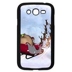 Christmas, Santa Claus With Reindeer Samsung Galaxy Grand Duos I9082 Case (black)