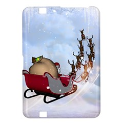 Christmas, Santa Claus With Reindeer Kindle Fire Hd 8 9