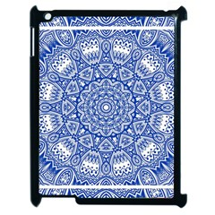 Blue Mandala Art Pattern Apple Ipad 2 Case (black)