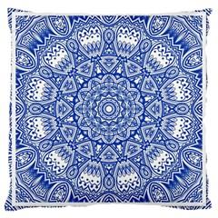 Blue Mandala Art Pattern Large Cushion Case (one Side)