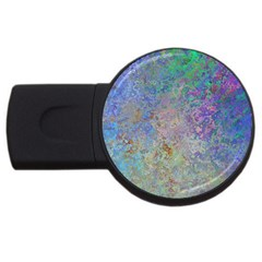 Colorful Pattern Blue And Purple Colormix Usb Flash Drive Round (4 Gb)