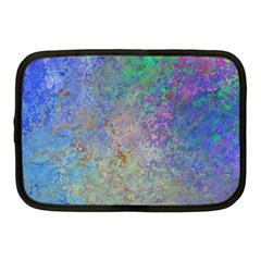 Colorful Pattern Blue And Purple Colormix Netbook Case (medium)