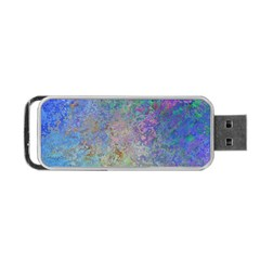 Colorful Pattern Blue And Purple Colormix Portable Usb Flash (one Side)