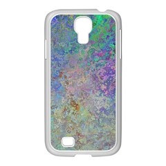 Colorful Pattern Blue And Purple Colormix Samsung Galaxy S4 I9500/ I9505 Case (white)