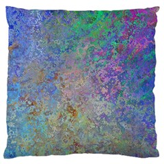Colorful Pattern Blue And Purple Colormix Standard Flano Cushion Case (one Side)