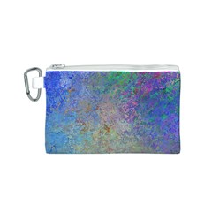 Colorful Pattern Blue And Purple Colormix Canvas Cosmetic Bag (s)