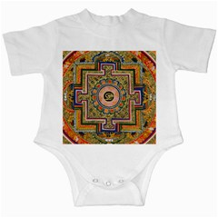 Asian Art Mandala Colorful Tibet Pattern Infant Creepers