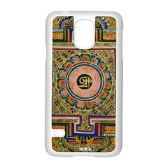 Asian Art Mandala Colorful Tibet Pattern Samsung Galaxy S5 Case (white)