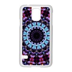 Kaleidoscope Mandala Purple Pattern Art Samsung Galaxy S5 Case (white)