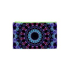 Kaleidoscope Mandala Purple Pattern Art Cosmetic Bag (xs)