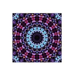 Kaleidoscope Mandala Purple Pattern Art Satin Bandana Scarf