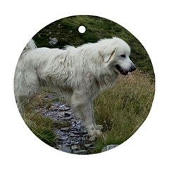 Great Pyrenees Full Ornament (round)