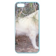 Great Pyrenees In Forest Apple Seamless Iphone 5 Case (color)