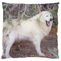 Great Pyrenees In Forest Standard Flano Cushion Case (one Side)