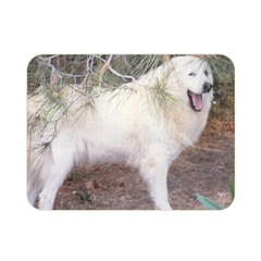 Great Pyrenees In Forest Double Sided Flano Blanket (mini)