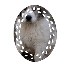 Great Pyrenees Puppy Ornament (oval Filigree)