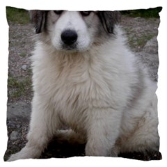 Great Pyrenees Puppy Large Cushion Case (two Sides)