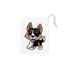 Cardigan Welsh Corgi Cartoon Drawstring Pouches (xs)