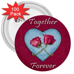 Love Concept Design 3  Buttons (100 Pack)