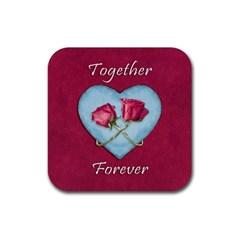 Love Concept Design Rubber Coaster (square)