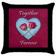 Love Concept Design Throw Pillow Case (black)