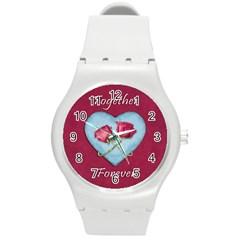 Love Concept Design Round Plastic Sport Watch (m)