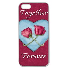 Love Concept Design Apple Seamless Iphone 5 Case (clear)