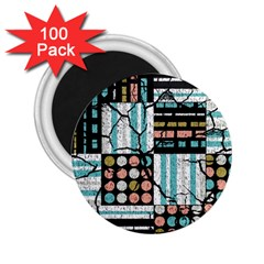 Distressed Pattern 2 25  Magnets (100 Pack)