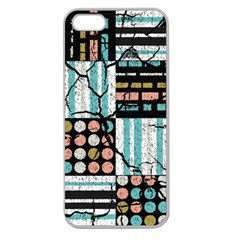 Distressed Pattern Apple Seamless Iphone 5 Case (clear)