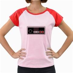 Video Game Controller 80s Women s Cap Sleeve T Shirt