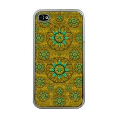 Sunshine And Flowers In Life Pop Art Apple Iphone 4 Case (clear)