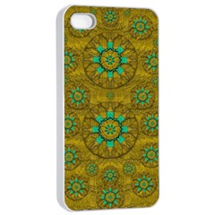 Sunshine And Flowers In Life Pop Art Apple Iphone 4/4s Seamless Case (white)