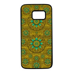 Sunshine And Flowers In Life Pop Art Samsung Galaxy S7 Black Seamless Case