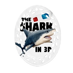 The Shark Movie Oval Filigree Ornament (two Sides)