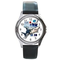 The Shark Movie Round Metal Watch