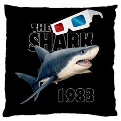 The Shark Movie Large Cushion Case (two Sides)