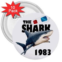 The Shark Movie 3  Buttons (10 Pack)
