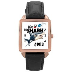 The Shark Movie Rose Gold Leather Watch