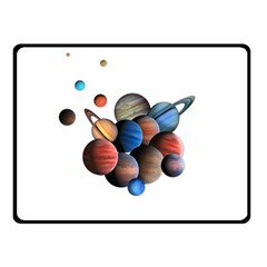 Planets  Fleece Blanket (small)