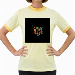 Planets  Women s Fitted Ringer T Shirts