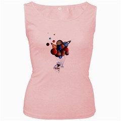 Planets  Women s Pink Tank Top