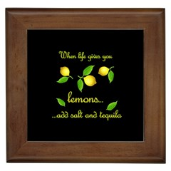 When Life Gives You Lemons Framed Tiles