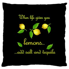 When Life Gives You Lemons Large Cushion Case (two Sides)