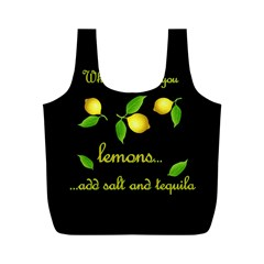 When Life Gives You Lemons Full Print Recycle Bags (m)