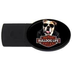 Bulldog Biker Usb Flash Drive Oval (4 Gb)
