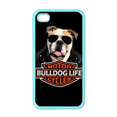Bulldog Biker Apple Iphone 4 Case (color)